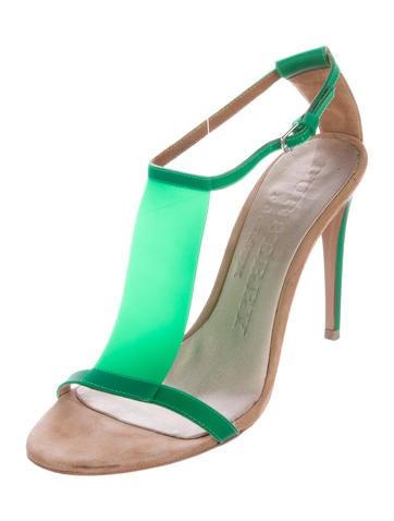 Burberry Prorsum Rubber T-Strap Sandals largest supplier Ol9QeFm