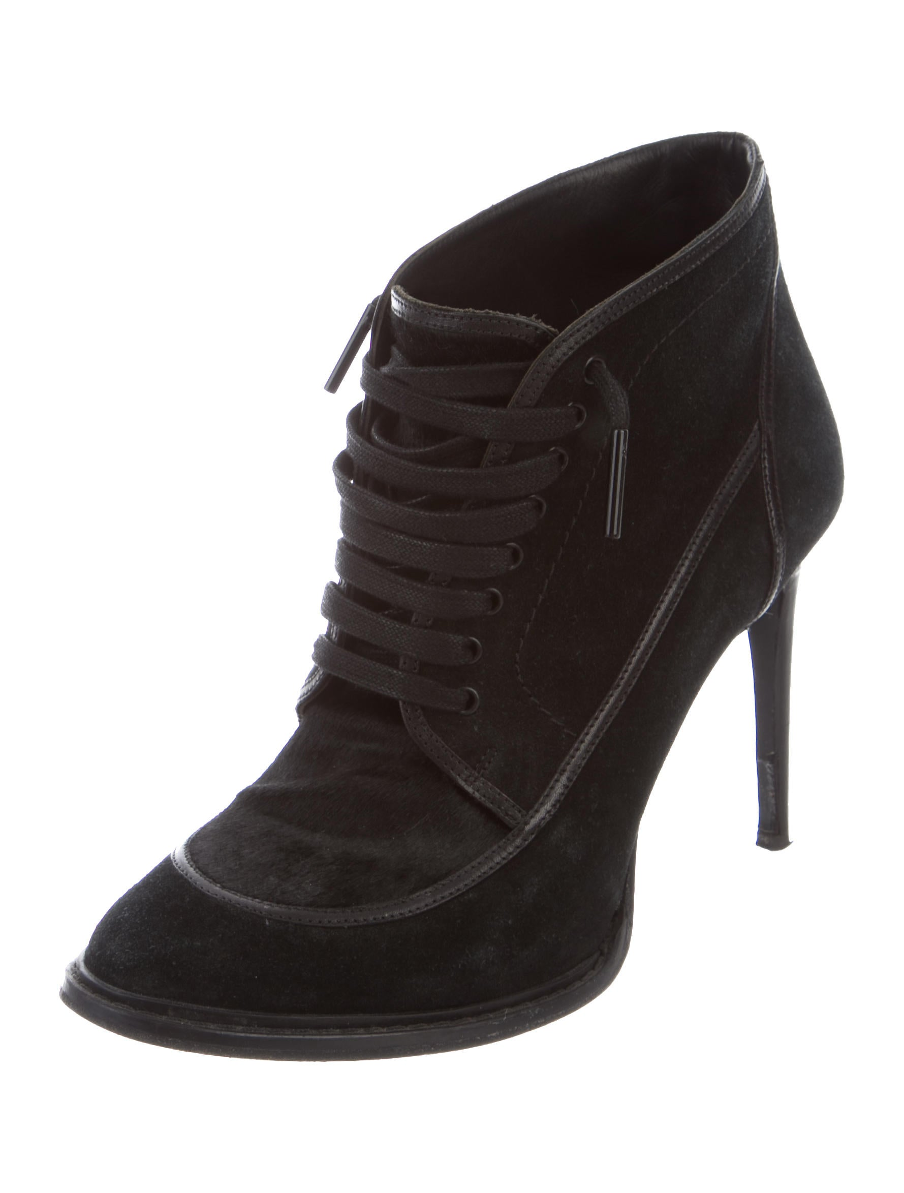 official cheap price Burberry Suede Lace-Up Booties get to buy sale online NEHjgaH0