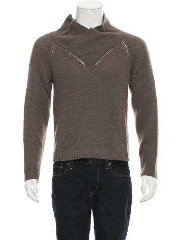 Burberry Prorsum Cashmere Shawl Neck Sweater None