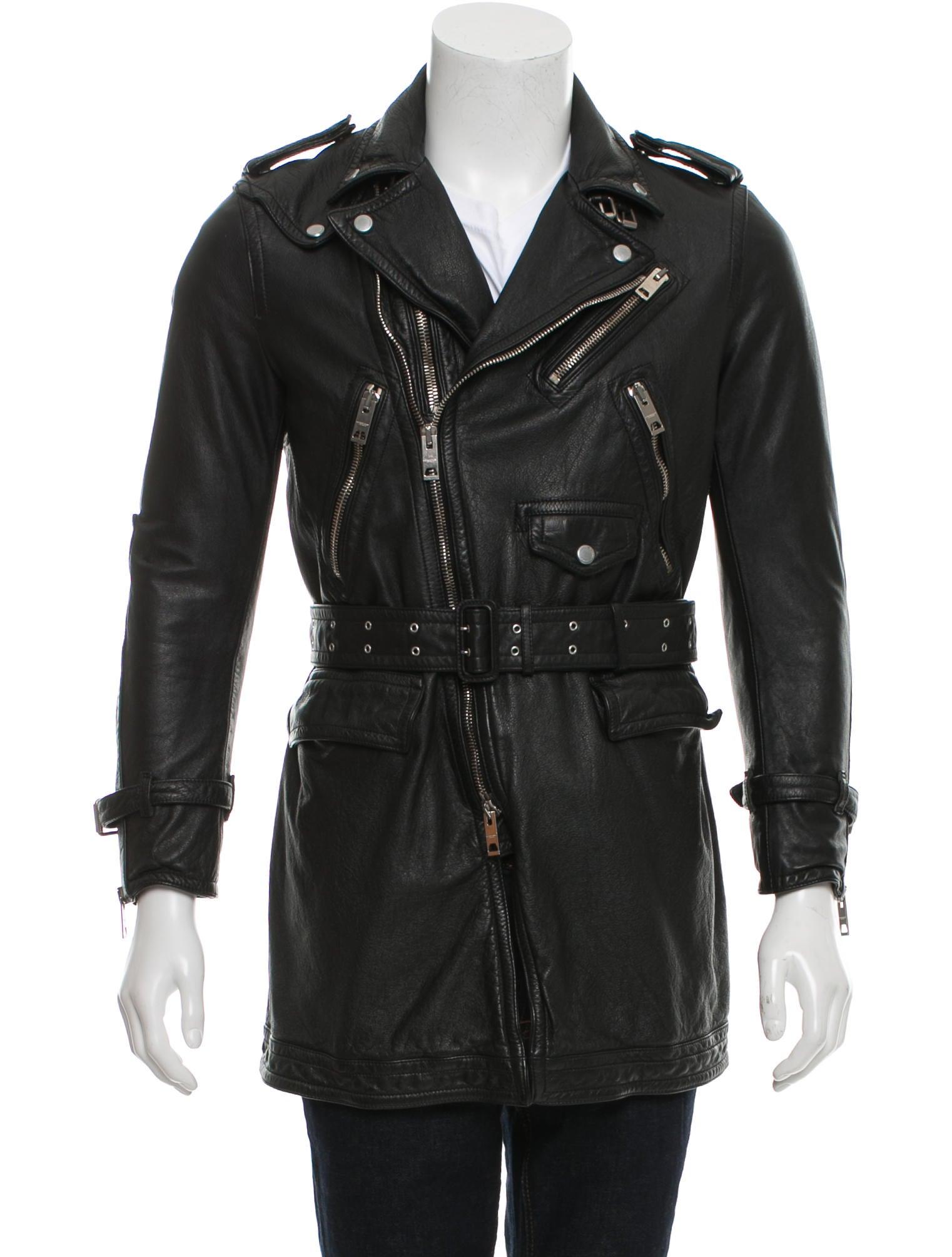 burberry prorsum leather belted moto jacket clothing