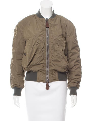 Burberry Prorsum Zip-Up Bomber Jacket None