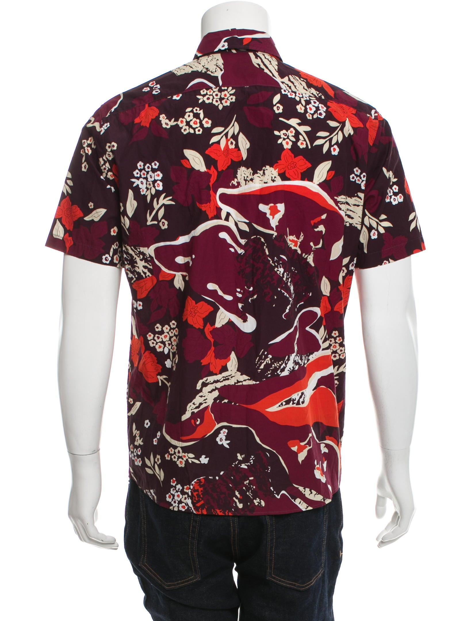 Burberry prorsum floral print button up shirt clothing for Floral print button up shirt
