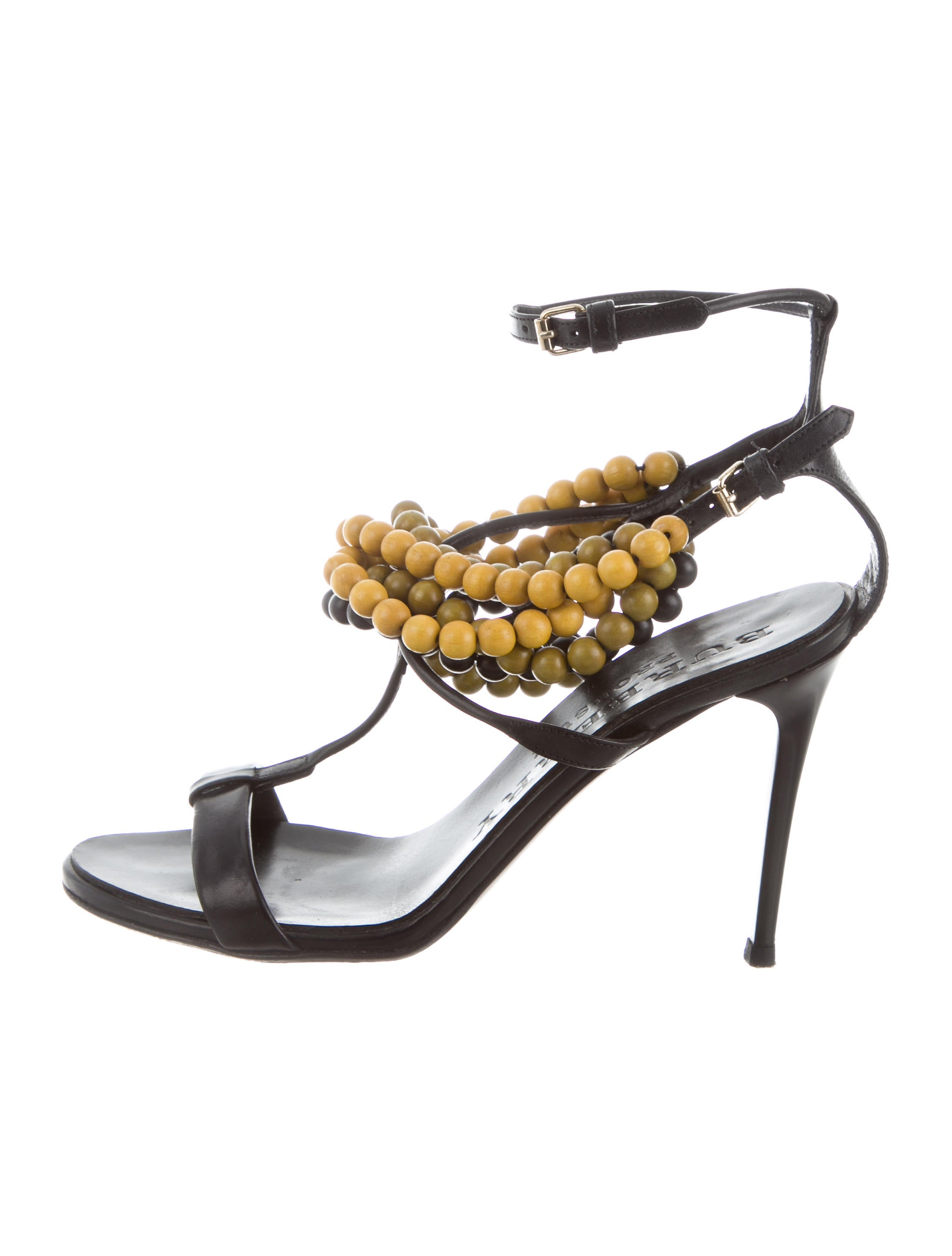 Burberry Prorsum Beaded Leather Sandals free shipping with paypal latest collections cheap price HONImOt