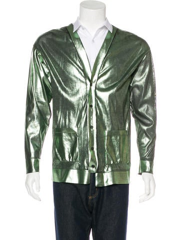 Burberry Prorsum Metallic Cardigan None