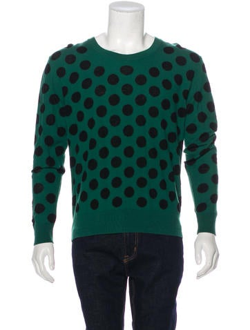 Burberry Prorsum Polka Dot Virgin Wool Sweater None