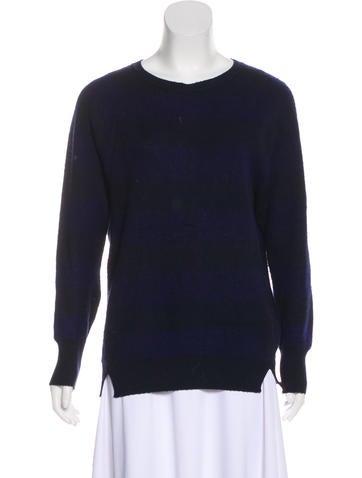 Burberry Prorsum Cashmere Striped Sweater None