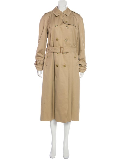 Burberry Prorsum Long Trench Coat Beige