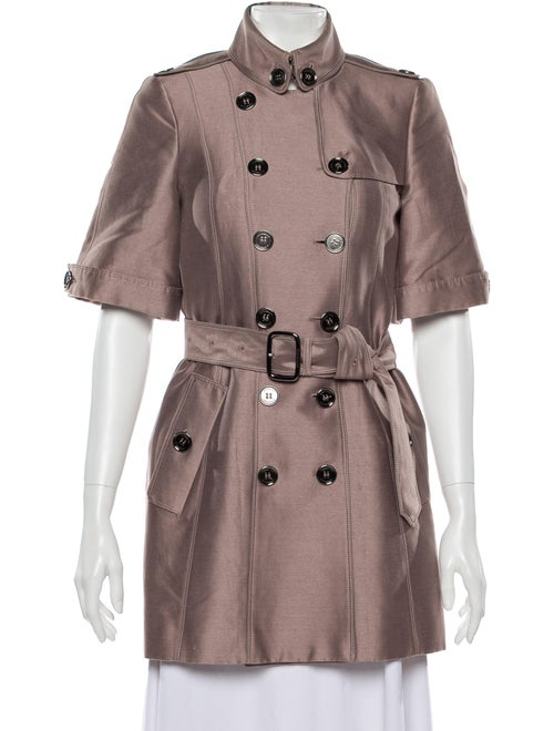 Burberry Prorsum Trench Coat Purple