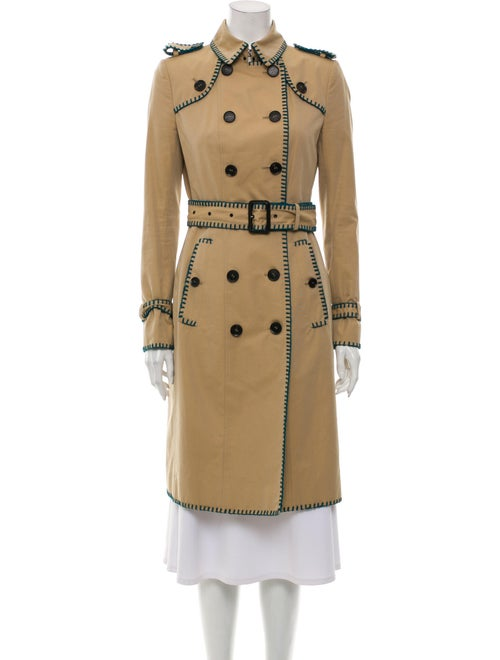 Burberry Prorsum Trench Coat Green