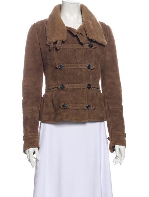 Burberry Prorsum Shearling Jacket Brown