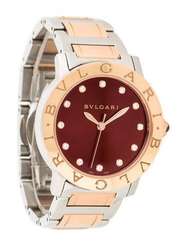 18K Rose Gold Diamond Watch