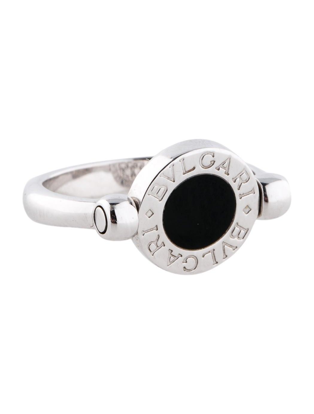 18k onyx and diamond flip ring