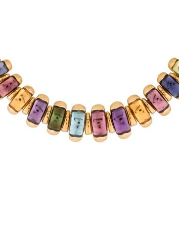18K Multi-Gemstone Collar Necklace