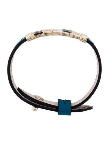Enamel Scaglie Leather Bracelet