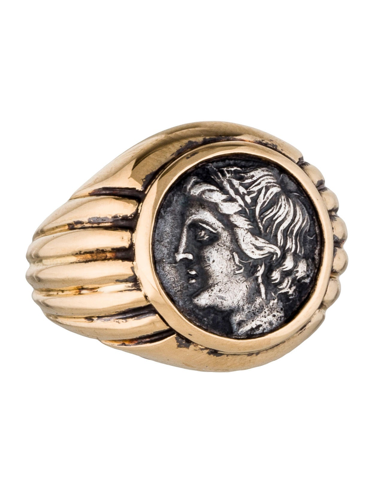 Is Monet Jewelry Real >> Bvlgari Monete Antiche Coin Ring - Rings - BUL23854 | The RealReal