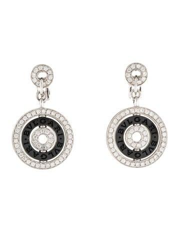 18K Diamond & Ceramic Cerchi Astrale Earrings