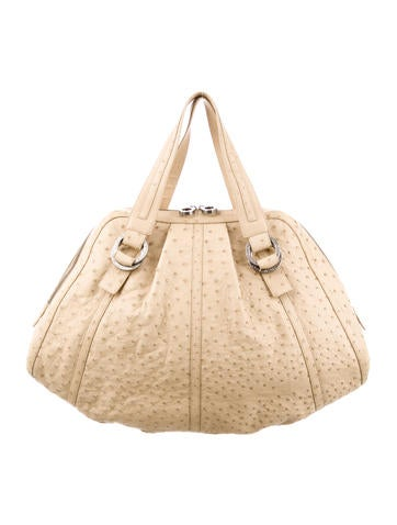 Bvlgari Ostrich Large Polly Bag None