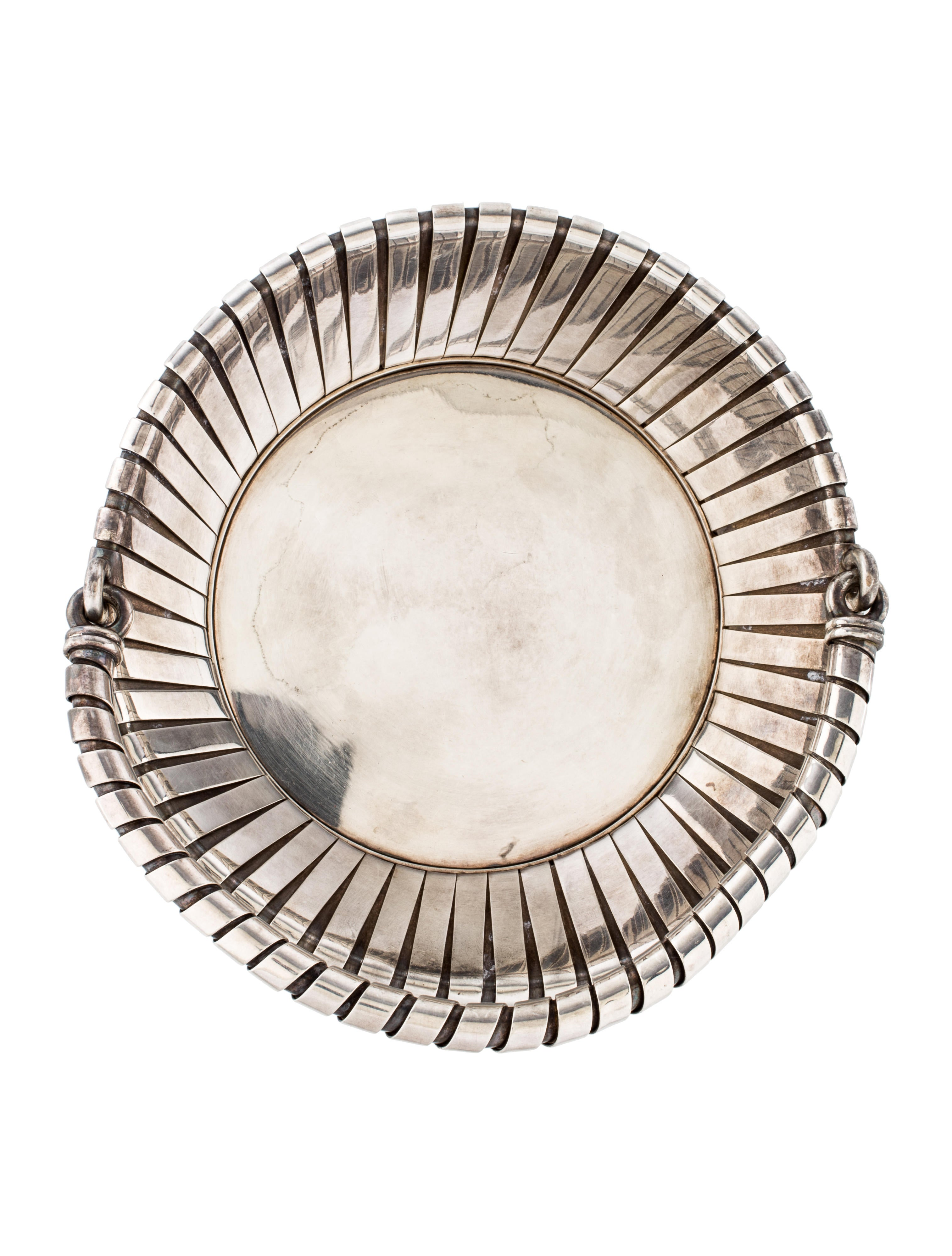 Bvlgari sterling silver basket decor and accessories for Artistic accents genuine silver decoration