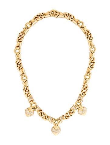 Bvlgari 18K Diamond Profumo Necklace