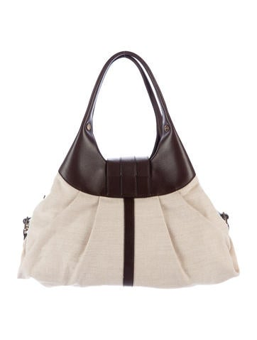 Leather-Trimmed Chandra Bag