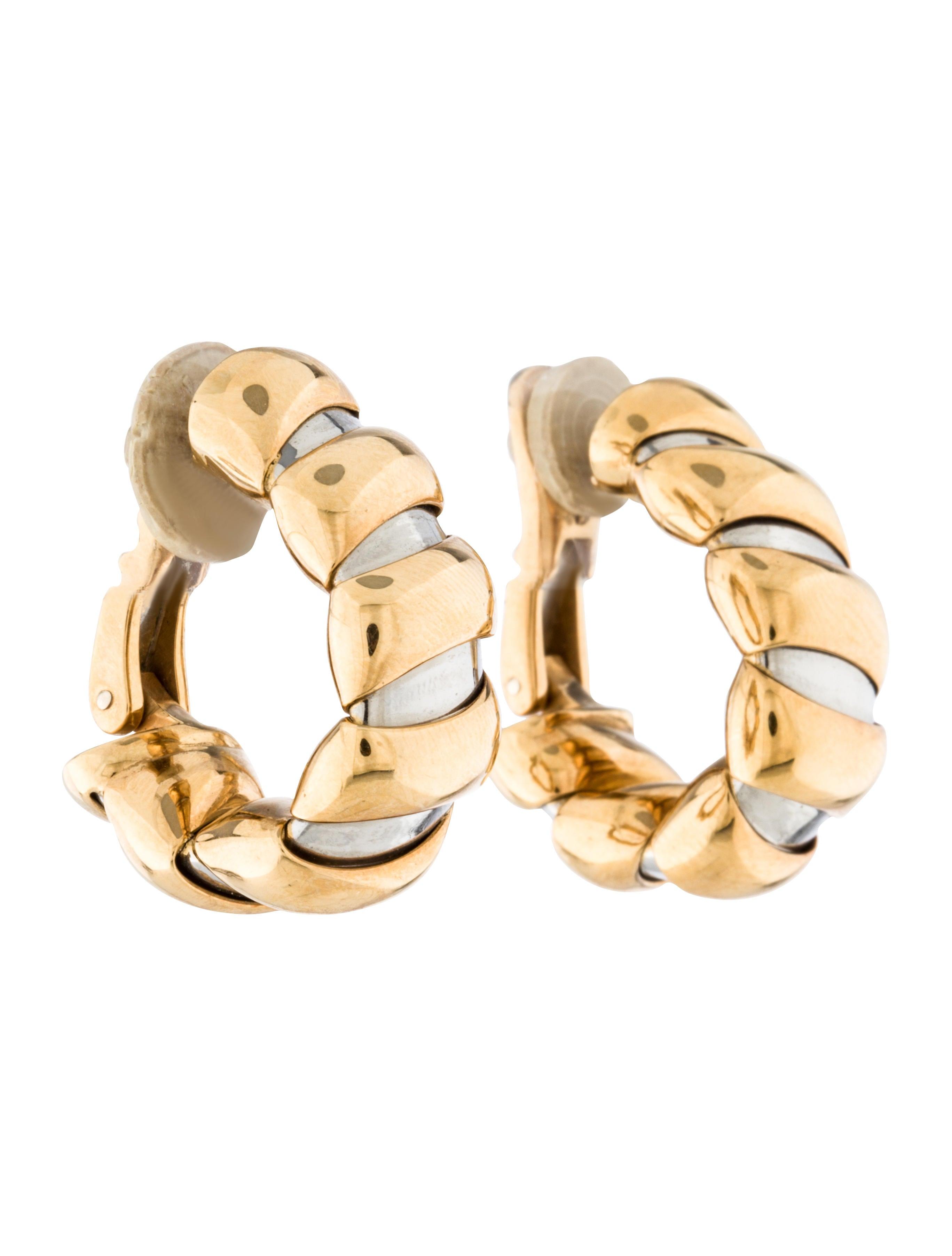 Twotone Hoop Earrings