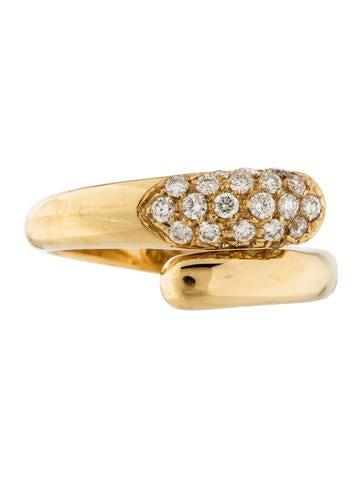 Bvlgari 18K Diamond Bypass Ring