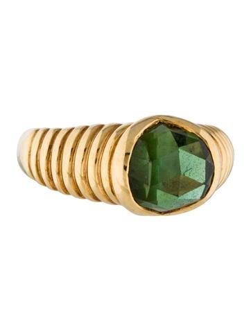 Bvlgari 18K Green Tourmaline Cocktail Ring