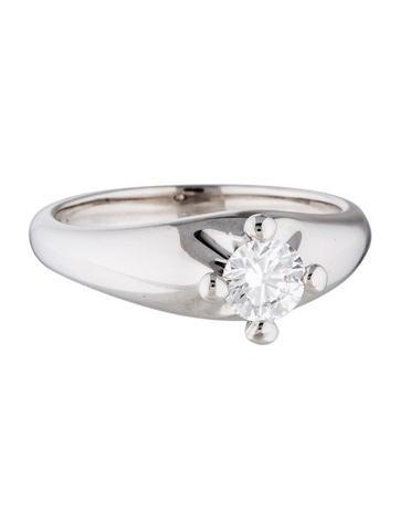 Bvlgari Platinum Diamond Corona Engagement Ring