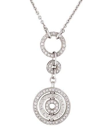 Bvlgari 18K Diamond Cerchi Pendant Necklace