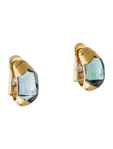 Bvlgari 18K Topaz Clip-On Earrings