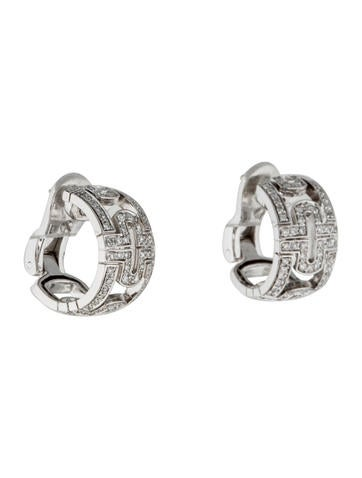Bvlgari 18K Diamond Parentesi Hoop Earrings