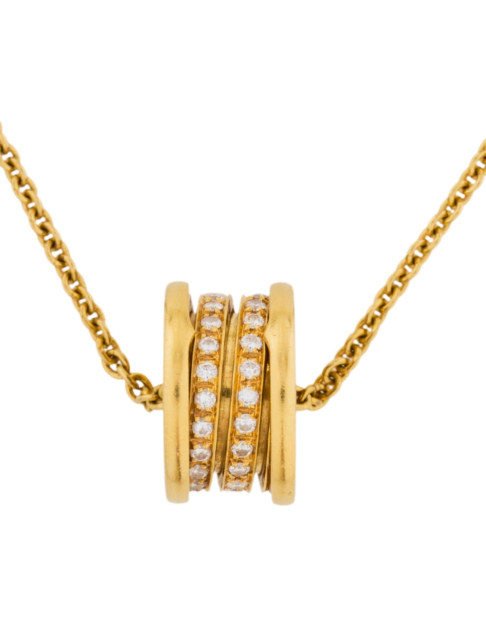bvlgari 18k b zero1 pendant necklace necklaces