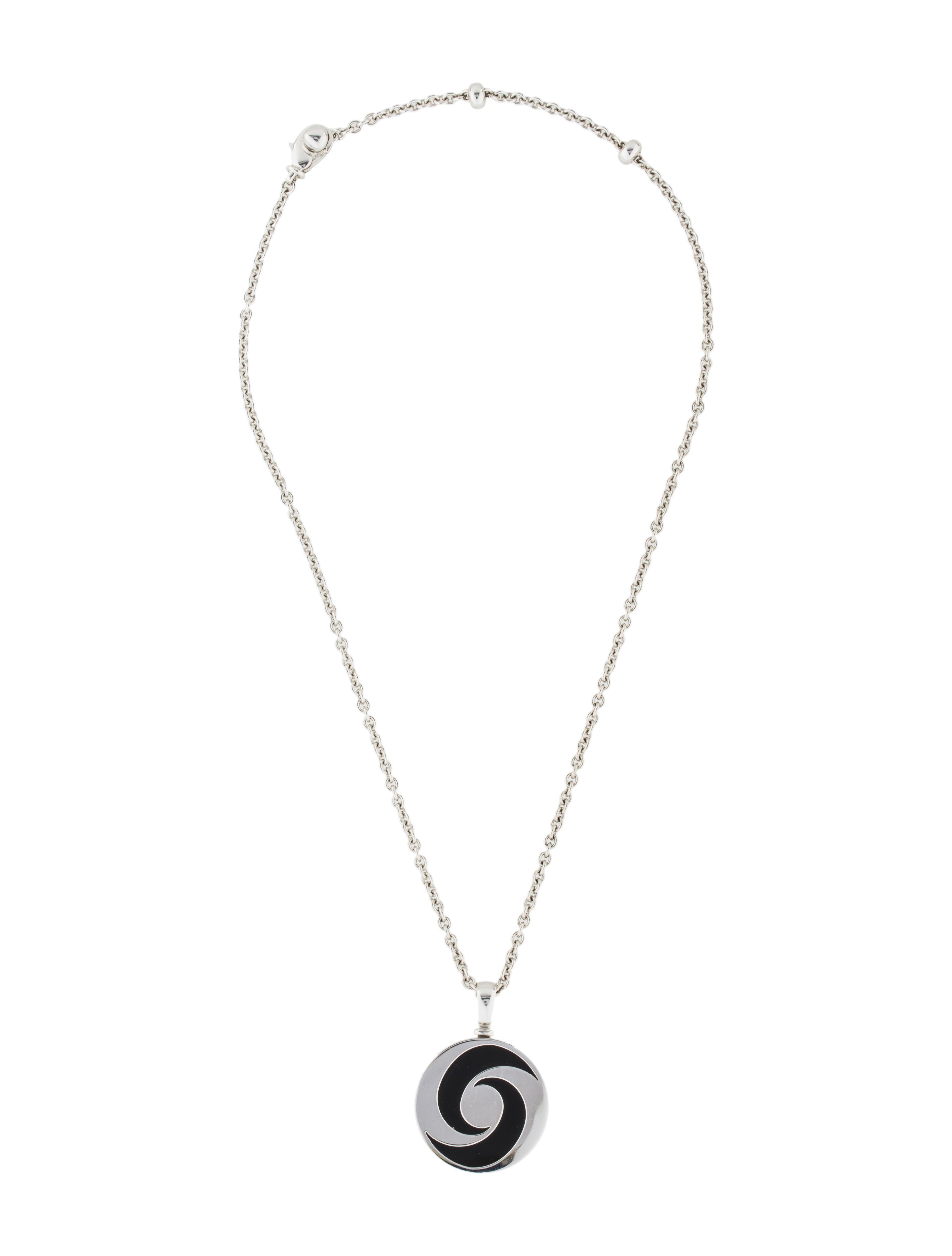 Bvlgari 18k onyx hypnotic pendant necklace necklaces bul26373 18k onyx hypnotic pendant necklace mozeypictures Choice Image