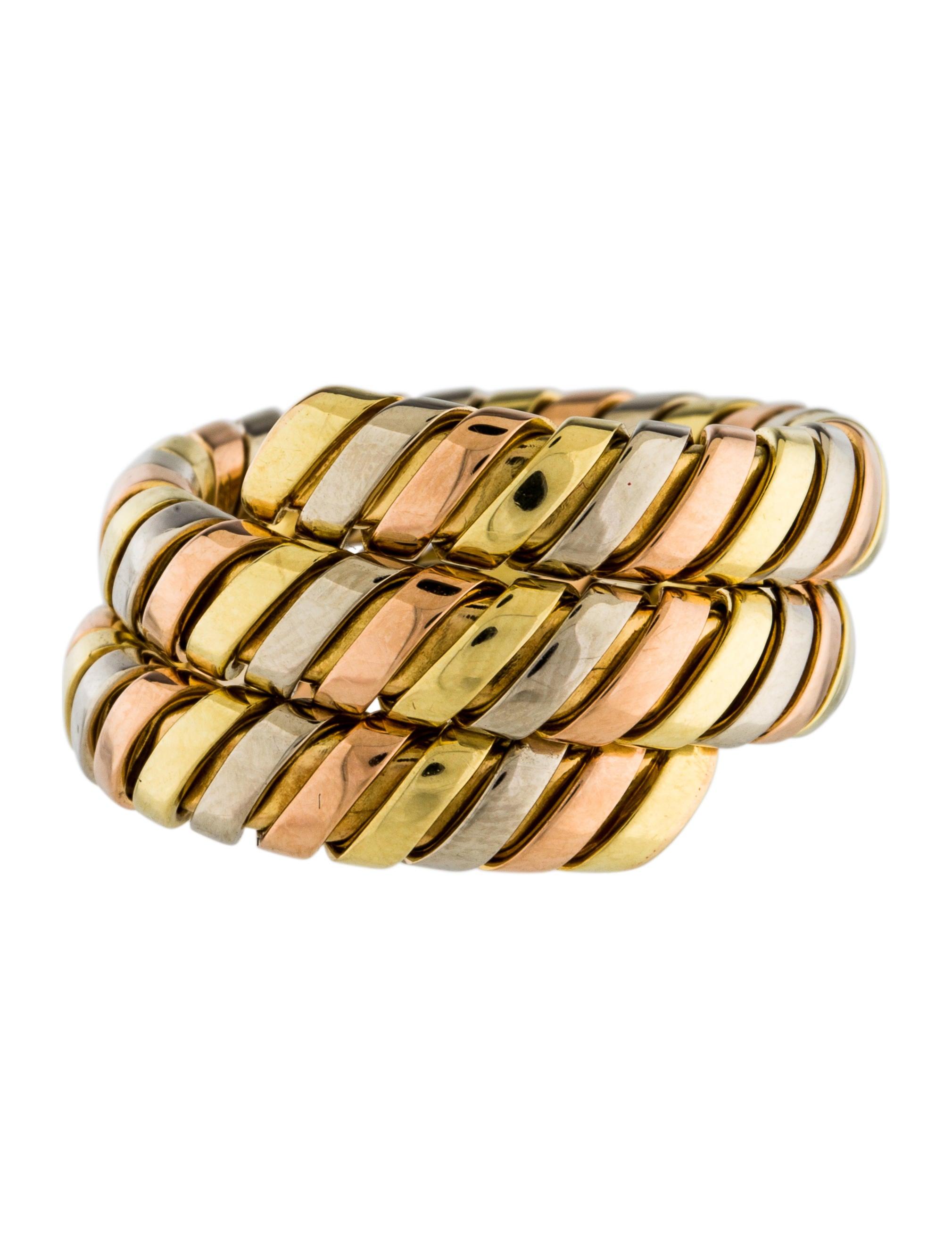 Bvlgari Serpenti Tubogas Coil Ring Rings Bul26461