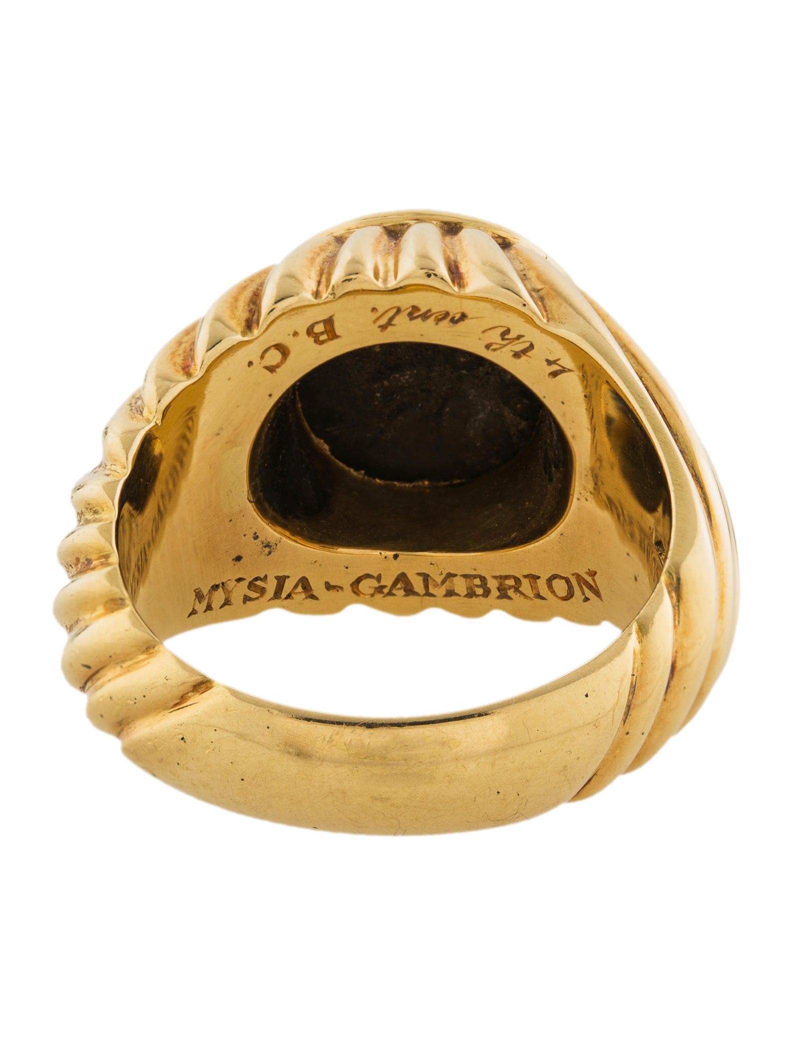 Is Monet Jewelry Real >> Bvlgari 18K Monete Coin Ring - Rings - BUL26628   The RealReal