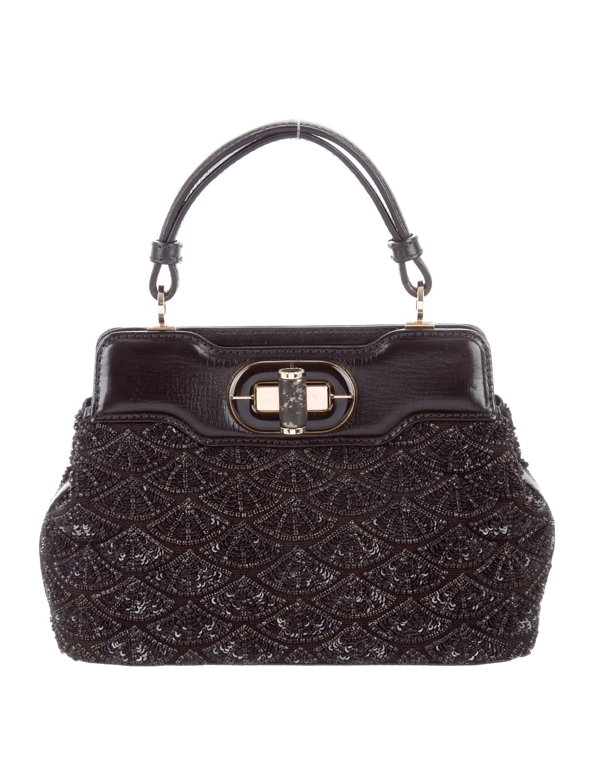 Bvlgari Mini Beaded Isabella Rossellini Bag