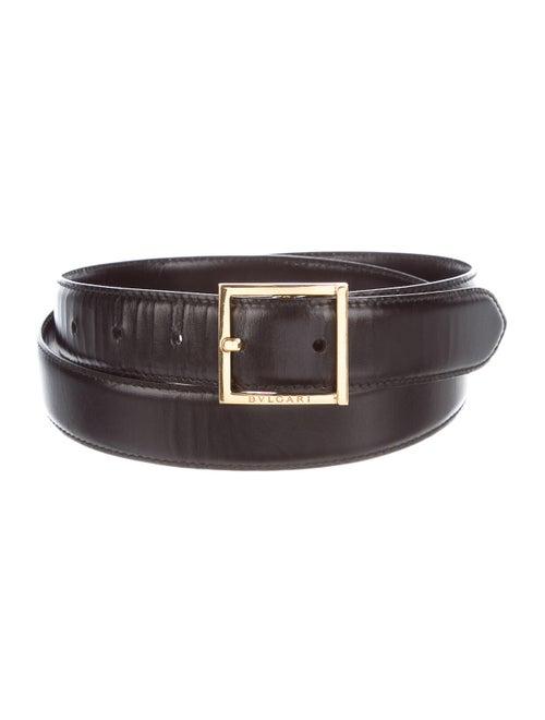 Bvlgari Leather Hip Belt black