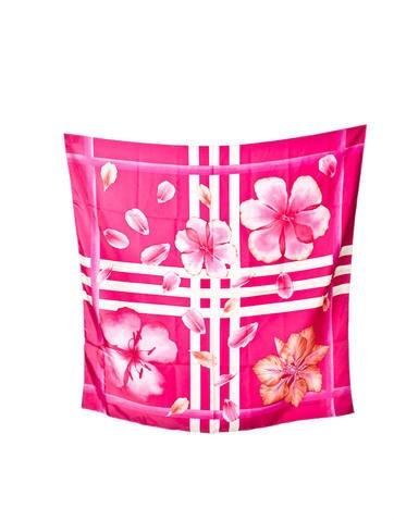 Silk Floral Print Scarf
