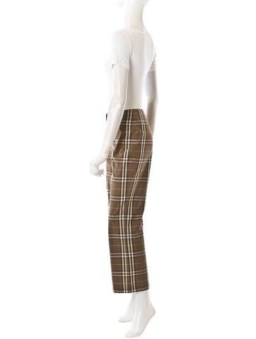 Plaid Straight Leg Pant