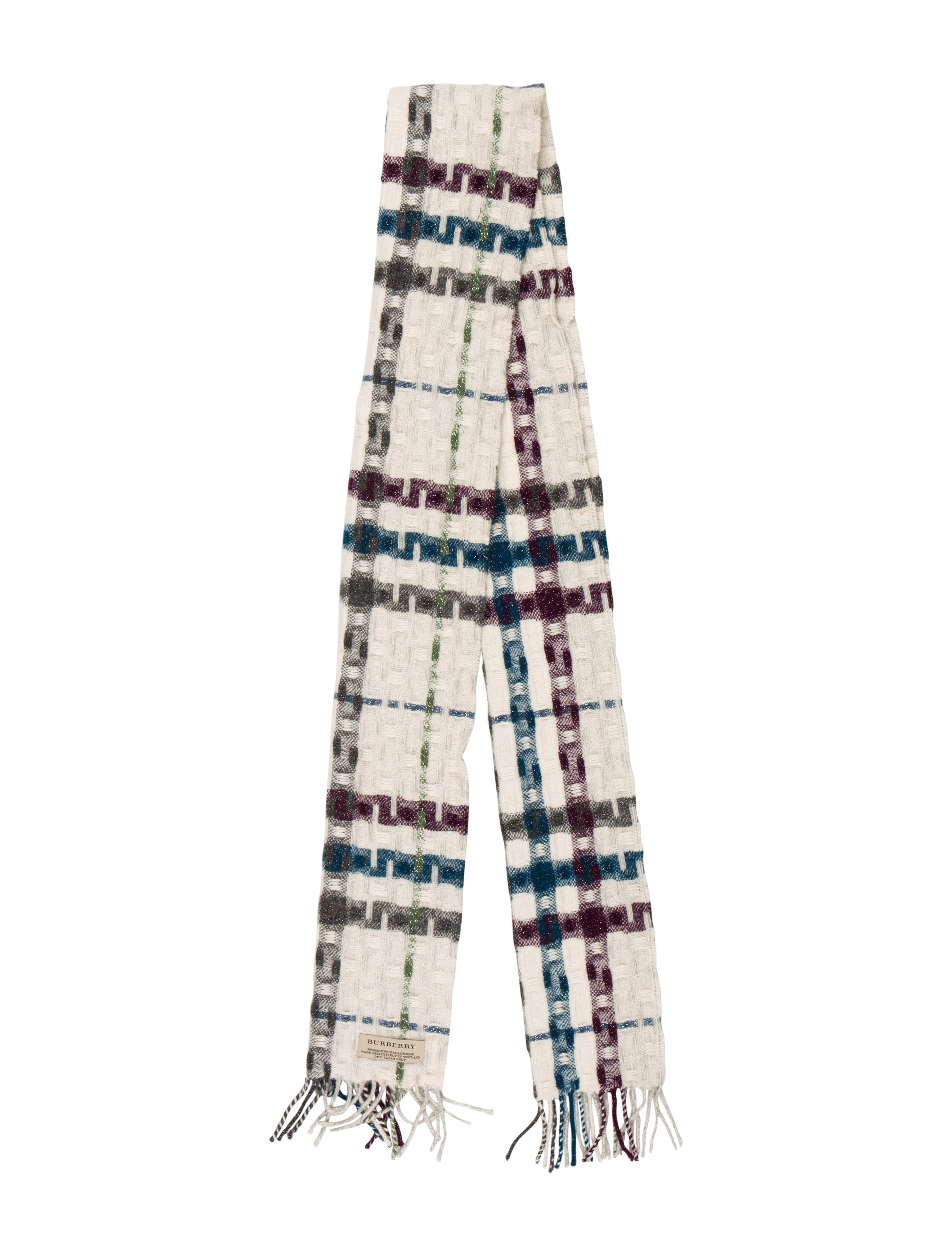 Burberry Wool Knit Scarf Accessories Bur100356 The Realreal