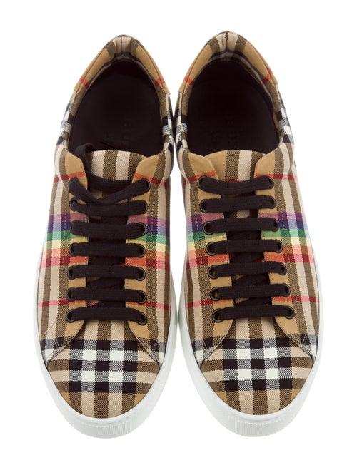 a75e4dd23 Burberry Albert Rainbow Check Sneakers w/ Tags - Shoes - BUR102448 ...