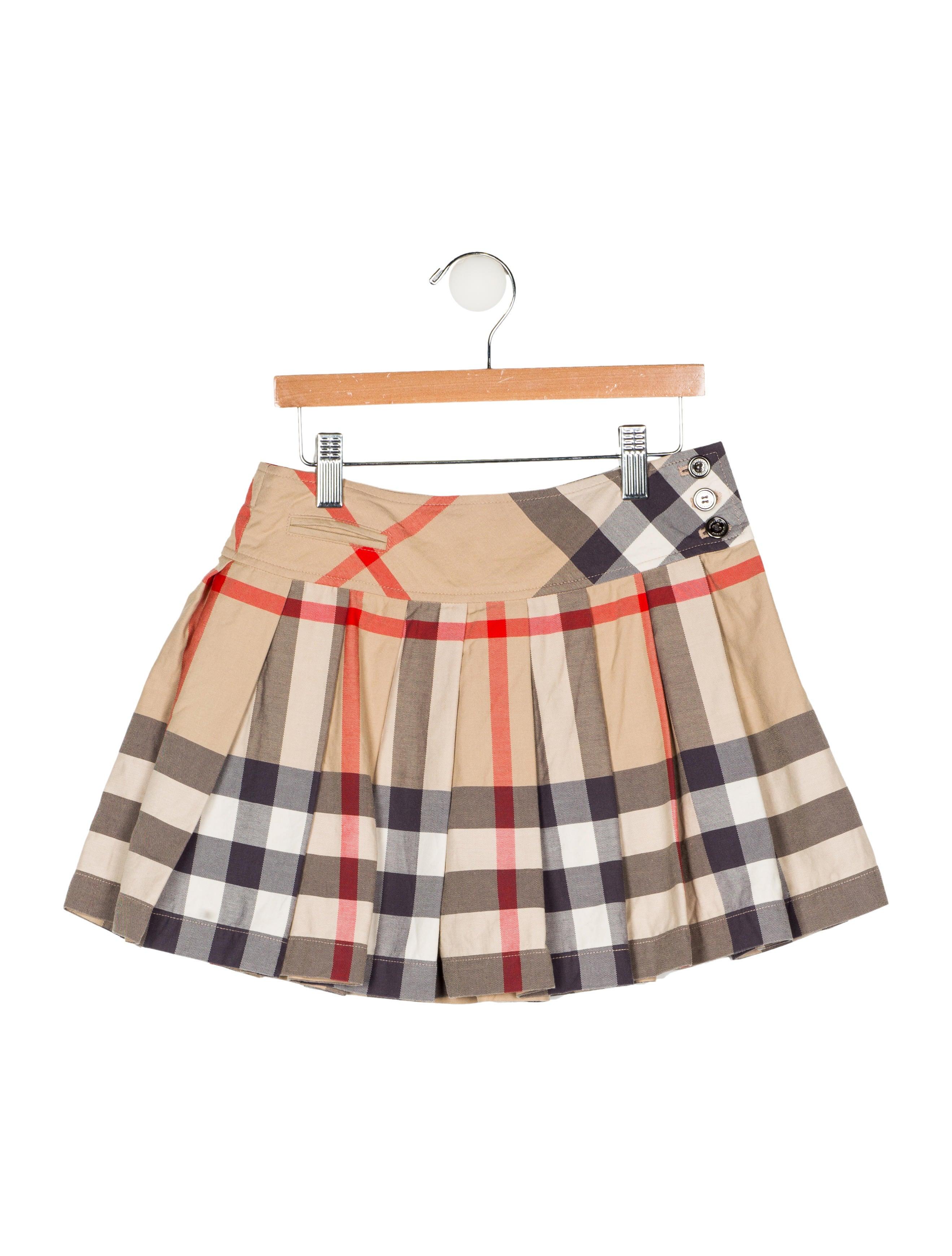 7c31c092c3 Burberry Girls' Pleated Nova Check Skirt - Girls - BUR105049   The ...