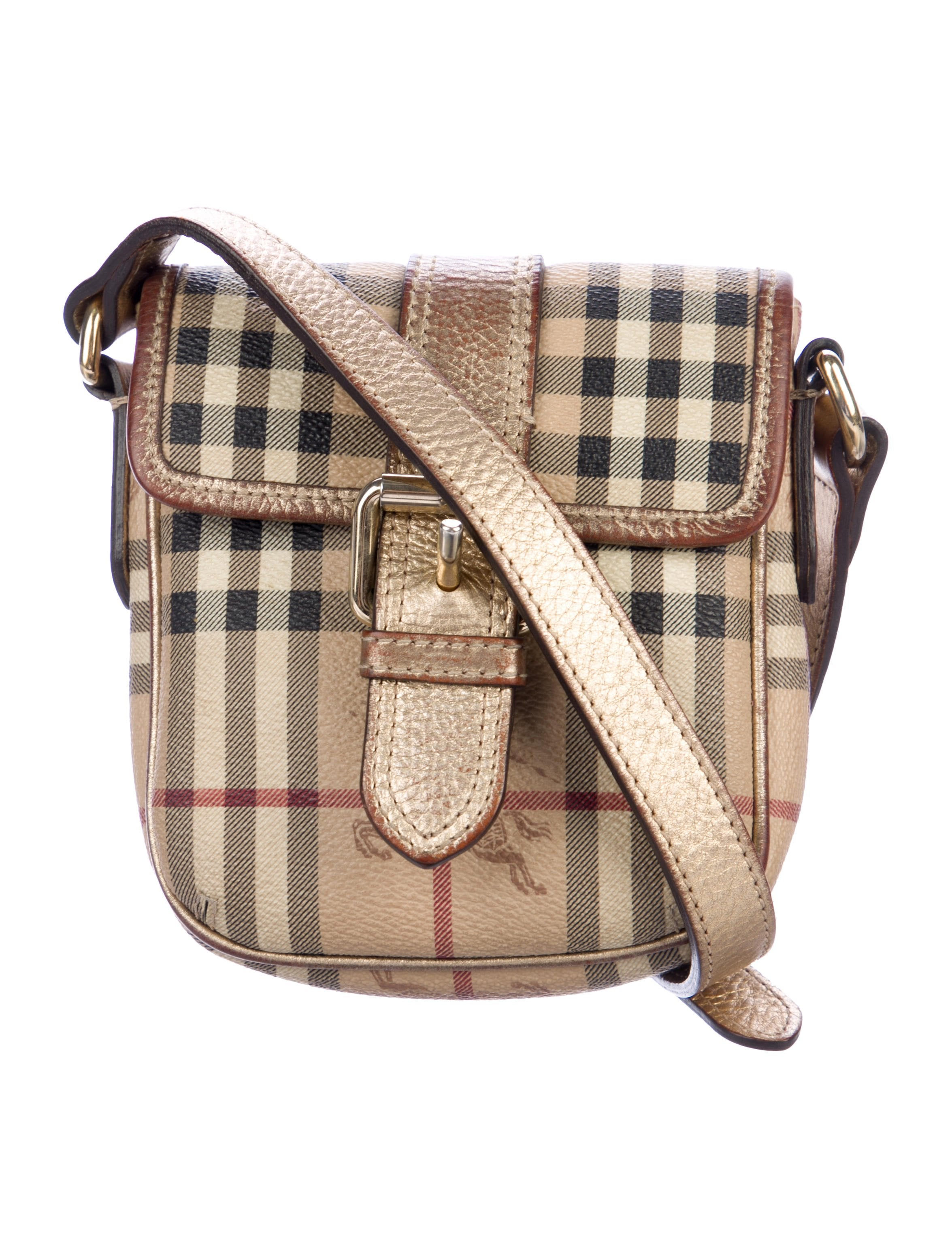 Haymarket Check Crossbody Bag by Burberry