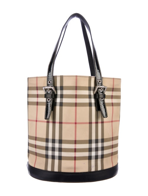 d9be6e3cd4d Burberry Nova Check Bucket Bag - Handbags - BUR106396 | The RealReal