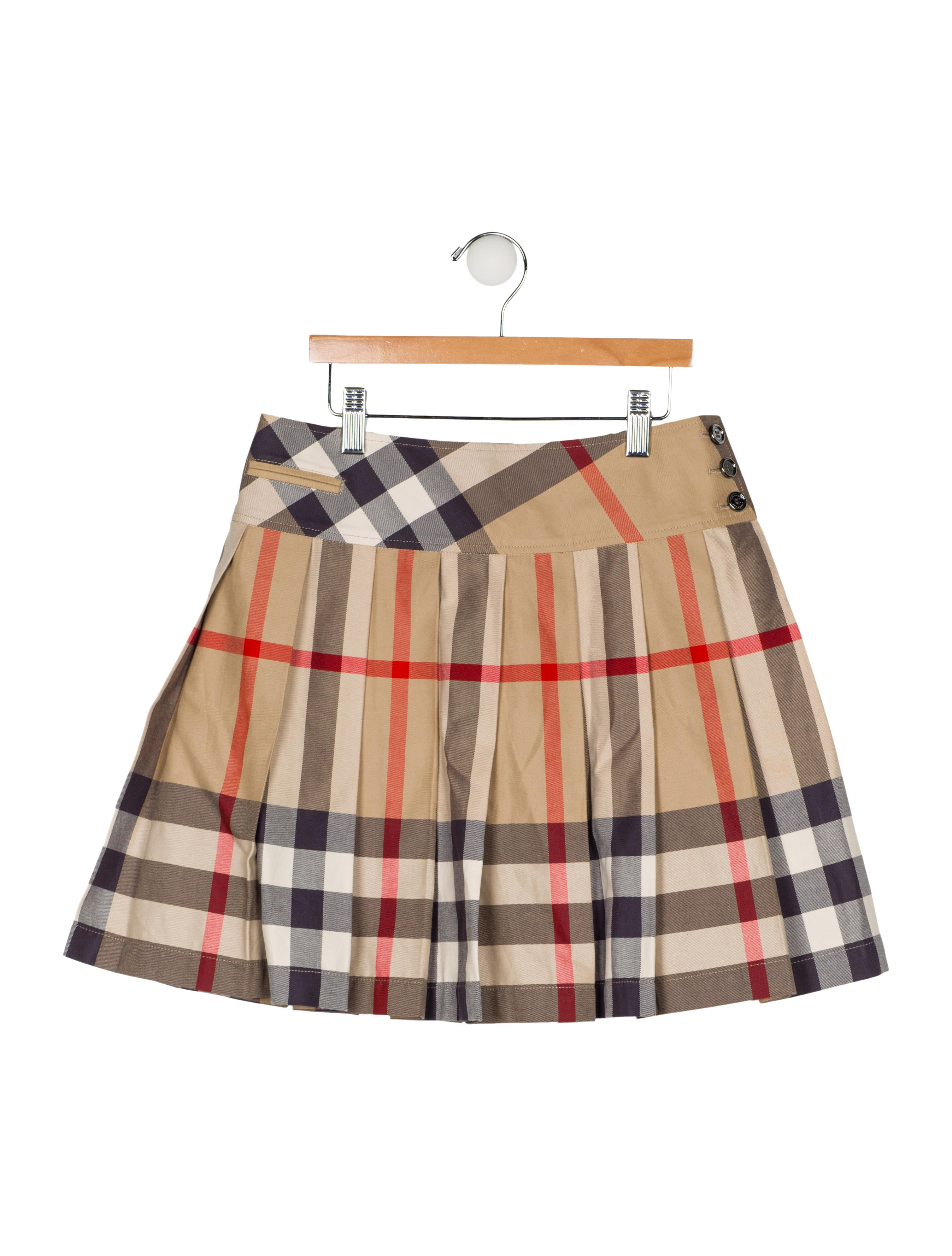 08d8f1b3b3 Burberry Girls' Pleated Nova Check Skirt - Girls - BUR107425   The ...