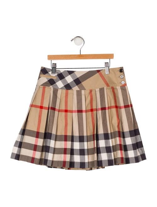a33ffa6e28 Burberry Girls' Pleated Nova Check Skirt - Girls - BUR109012   The ...