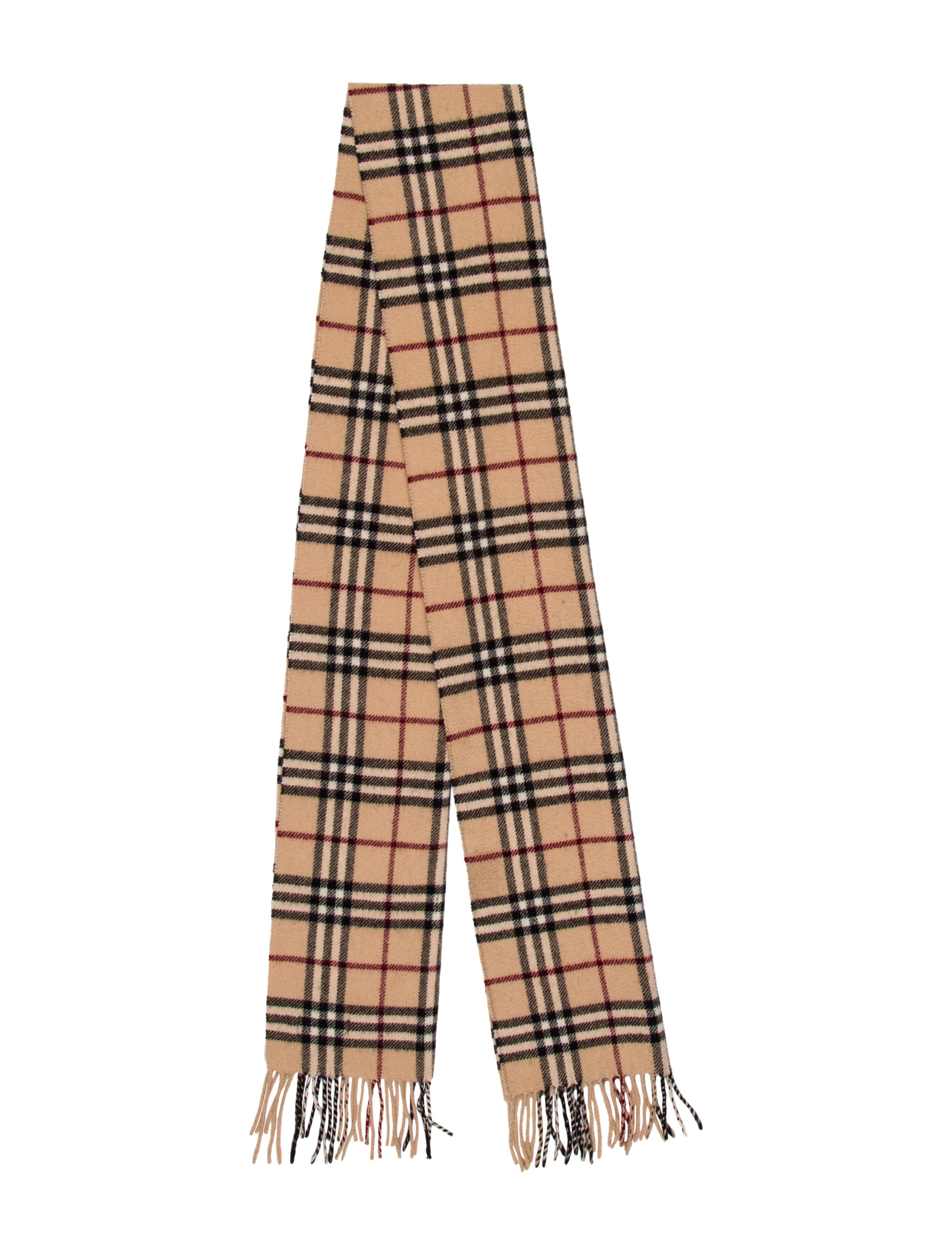 Wool Nova Check Scarf by Burberry
