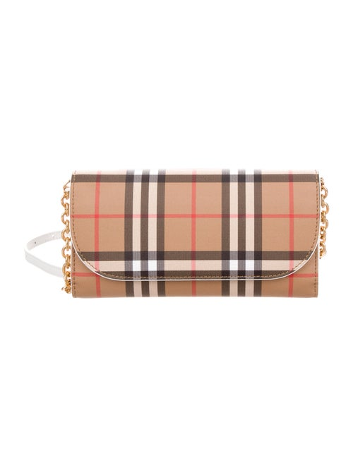0b87df76982d Burberry Henley Vintage Check Wallet on Chain - Handbags - BUR113301 ...
