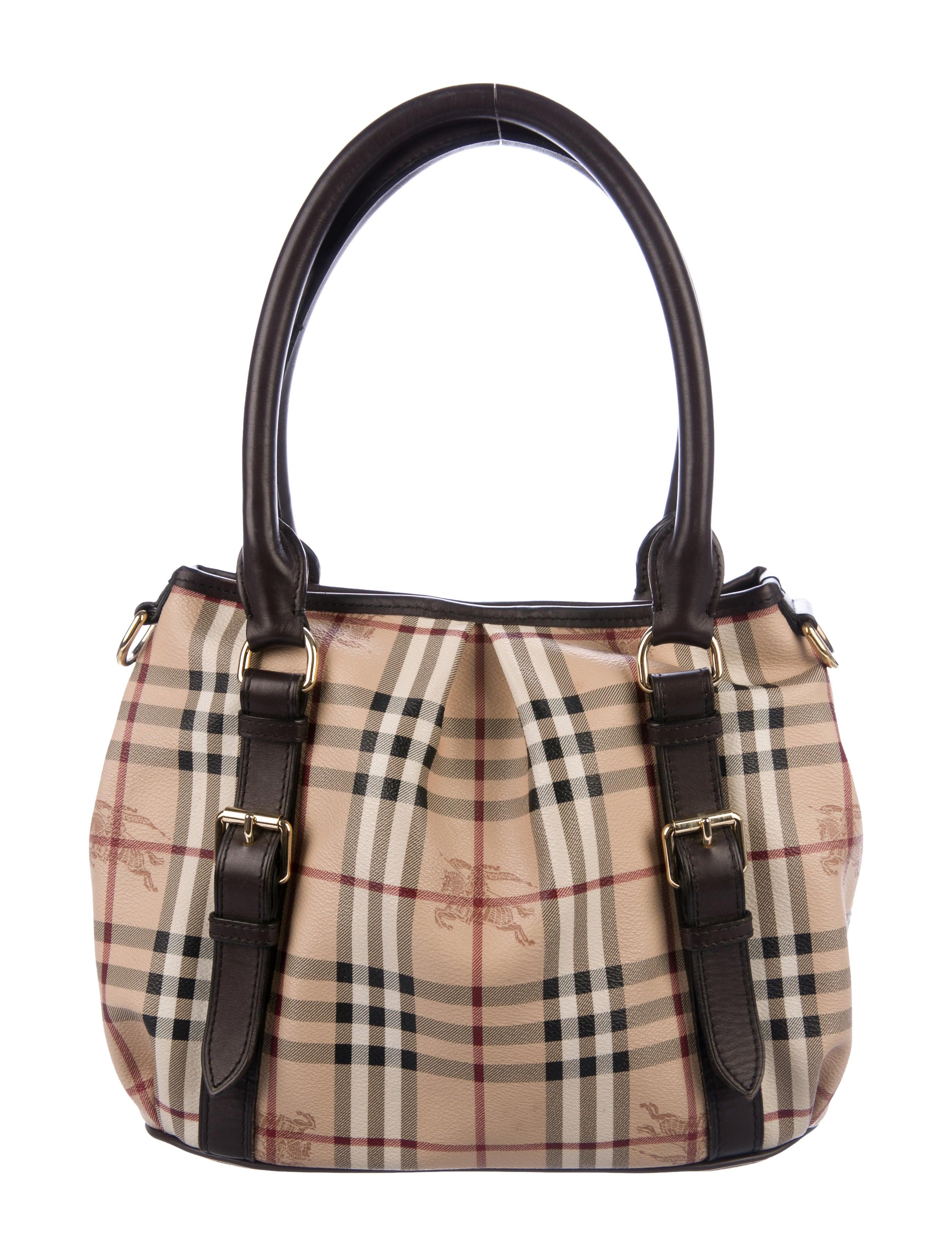 247893d65d38 Burberry Haymarket Check Small Northfield Tote - Handbags ...