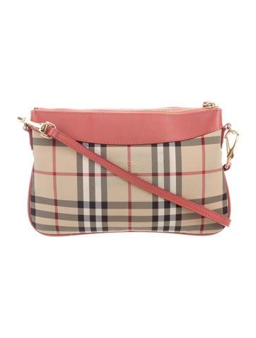 c3285bbac9fc Burberry Horseferry Check Peyton Bag - Handbags - BUR117370